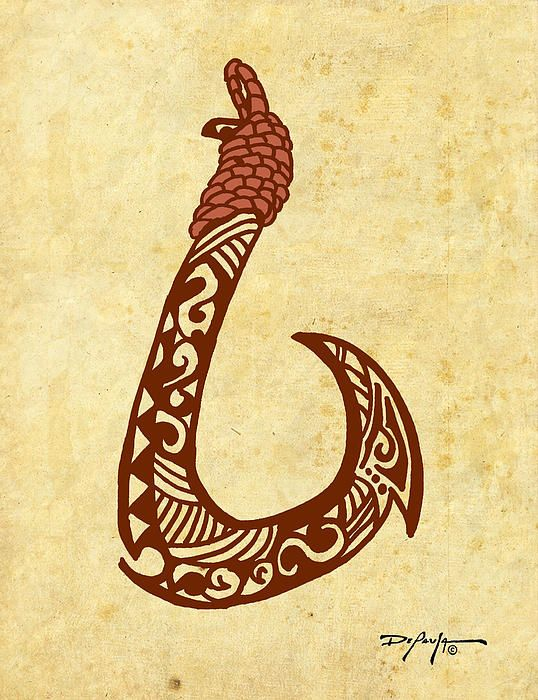 I always wear one of these when I surf or go into the sea - Hawaiian Fish Hook