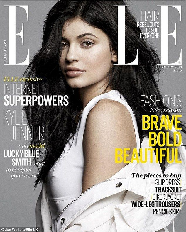 Kylie Jenner cuddles up with model Lucky Blue Smith for ELLE spread | Daily Mail Online