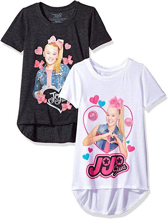 8c0d0dfd3c668 Amazon.com: Nickelodeon Big Girls' JoJo Siwa Short Sleeve 2 Pack T-Shirt,  White/Charcoal Heather, L-12/14: Clothing