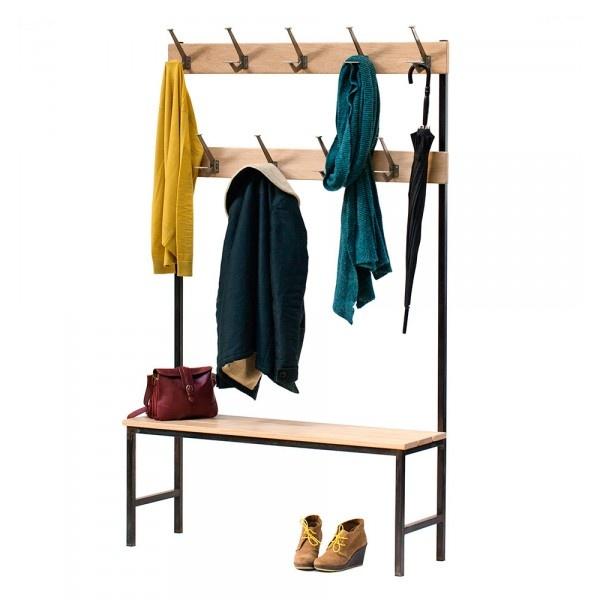 """Banc porte-manteau """"Maxi Hall"""" inspirée du mobilier scolaire des années 50. #scolaire #vintage #bonton"""
