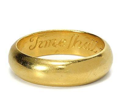 """17th or 18th century poesy ring.....22k gold.....""""TIME SHALL TELL I LOVE YOU WELL""""...."""