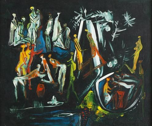 Jungle Pool - Walter Battiss
