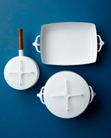 """Dansk """"Kobenstyle"""" Cookware - All the rage from the '50s through the '80s, and coveted by collectors ever since, this enamel-and-steel cookware is back on the market. (lenox.com)"""