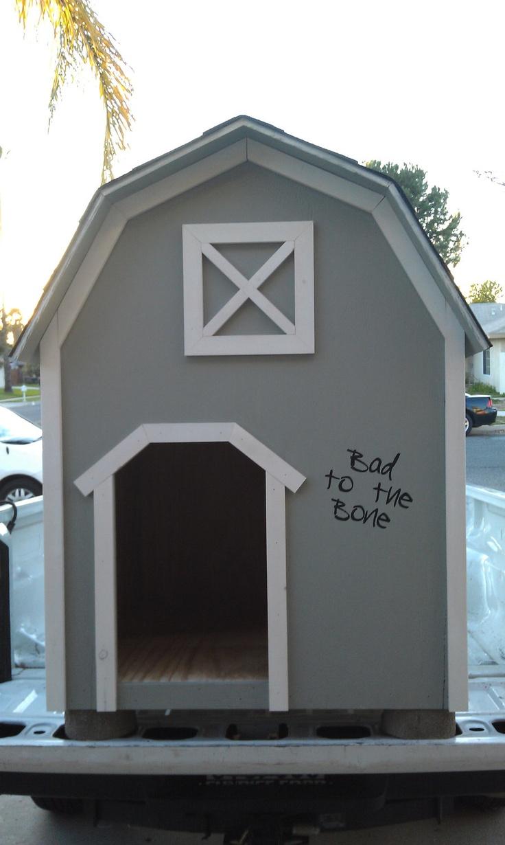Dog House, custom made. $250.00, via Etsy.