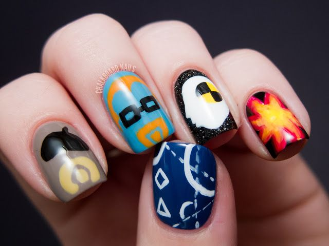 8 best tv show nail art images on pinterest adventure time chalkboard nails jamie wants big boom mythbusters nail art prinsesfo Gallery