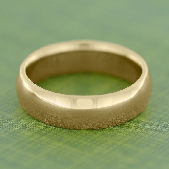 24k Gold Ring Yellow Gold Wedding Band Solid by jewelrybyjohan