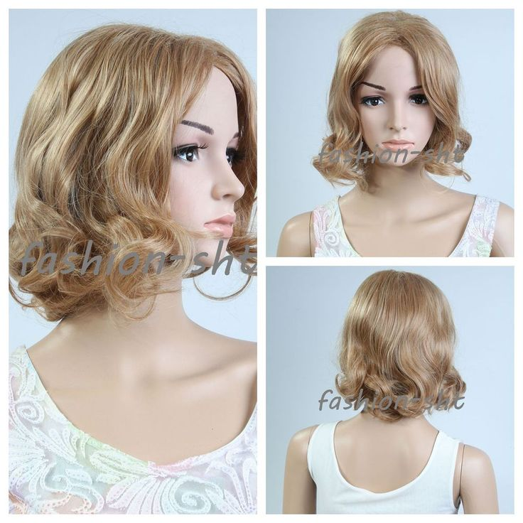 New Fashion Women's Bobo Short Blonde Curly Wavy Natural Hair Party Wig Blonde #Unbranded #WAVY