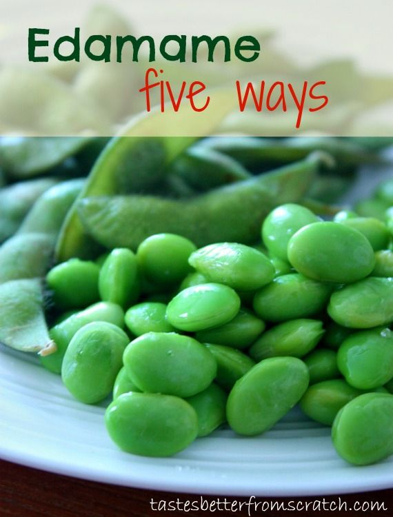 Edamame 5 different ways! Sweet & Salty, Crispy Parmesan and more! Such a healthy, delicious and easy side dish or snack