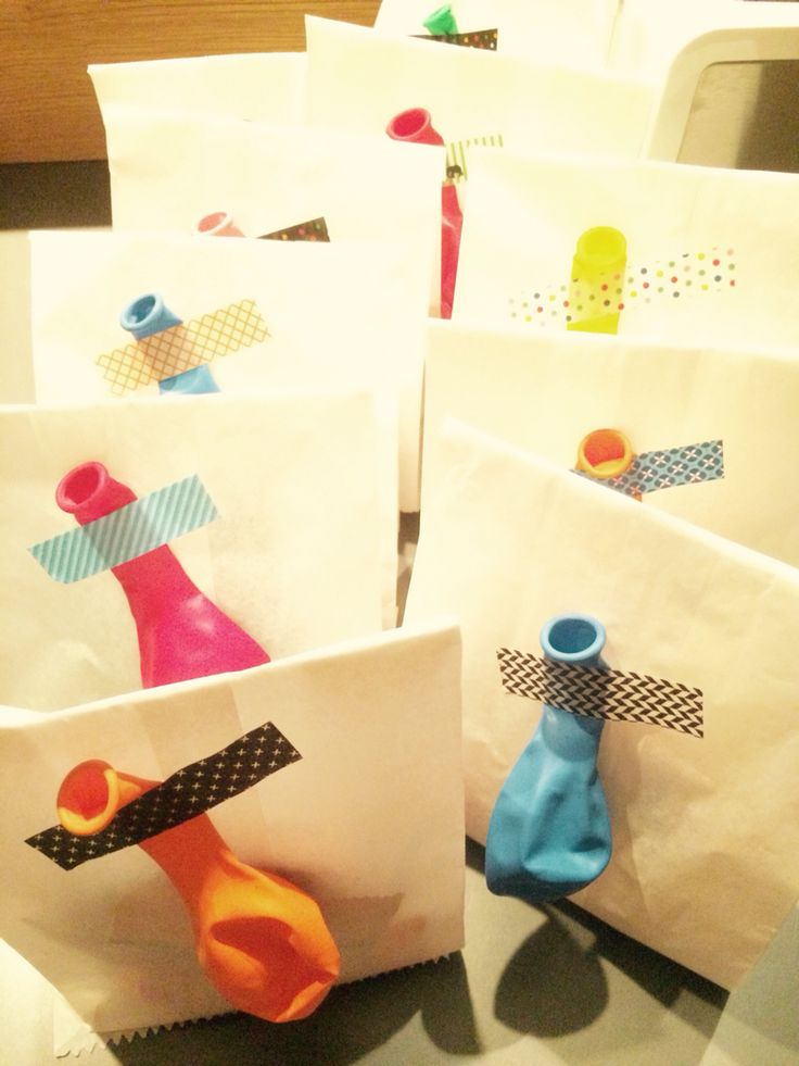 Give away bags - birthday party