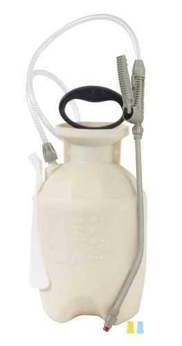 Chapin Clean 'N Seal 1-Gallon Poly Deck, Fence, and Patio Sprayer 25012 by Chapin. $21.34. 1/4, 1/2 and 1/3 gpm fan nozzles.. Locking spray handle for ease of spraying. Total spray Control¿.  spray shield protects siding and locks on board. Clean 'n easy¿ design. funnel top opening for no mess filling.  Transculent bottle for ease in checking fluid level. Curved wand and reinforced hose. From the Manufacturer                Clean 'N seal poly deck, fence and Pation sprayer - ...