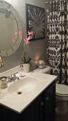 Black And White Bathroom Decor By Kbell