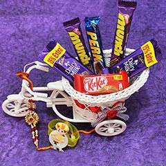 Rolling in with Chocolates @ http://www.rakhibazaar.com/rakhi-with-chocolates-1.html