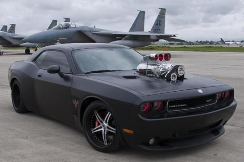 Dodge challenger - this is what my 6 year old grandson would want me to drive!