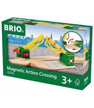 Brio 33750 - Paso a nível con cierre magnético para tren de juguete