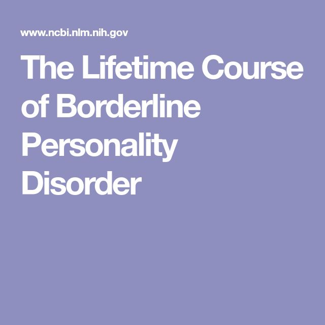 The Lifetime Course of Borderline Personality Disorder