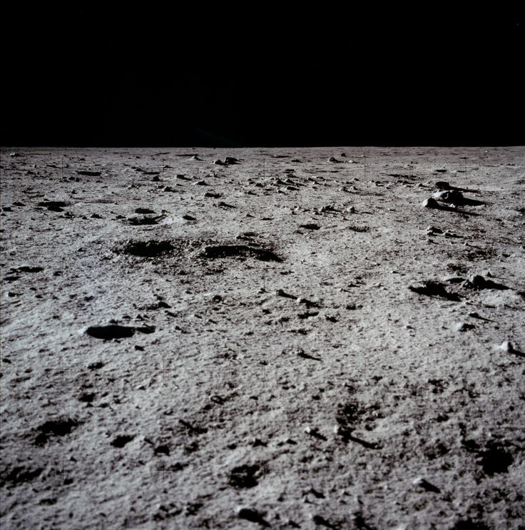 The surface of the Moon, July 1969, photographed during the Apollo 11 mission. (NASA)