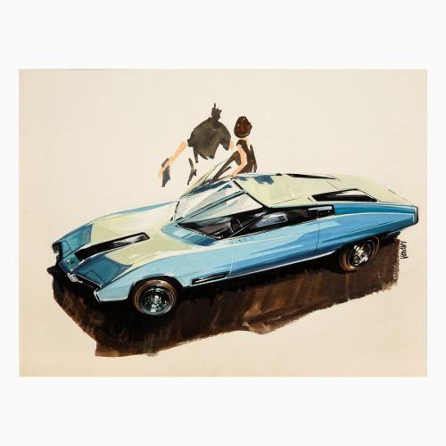 Amerikanisches Konzeptauto von Ken Vendley   – Car