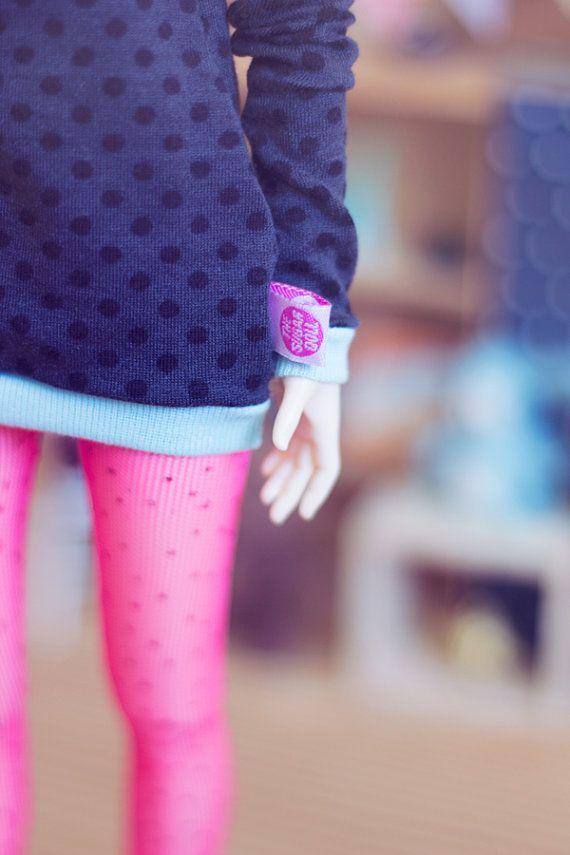 Dark Dots sweater for MSD size bjd dolls Unoa by sugardollshop, $18.00