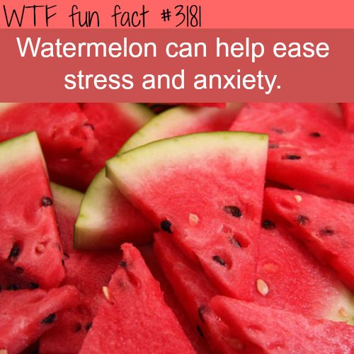 Facts about health, intersting health information WTF Facts : funny, interesting & weird facts... this is probably why i am always stressed and have anxiety. I hate watermelon