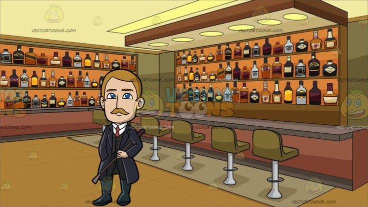 An Affluent Male Missionary At Inside A Bar Stocked With Bottles Of Alcohol:  A man with blonde hair and mustache wearing a white dress shirt pale red necktie black vest pants midnight bluish gray boots dark purple trench coat smiles while holding a brown whip in his left hand as he places his right hand inside his coat pocket. Set in interior of an establishment that caters to liquor drinking customers with a bar and six khaki colored bar stools with stainless chrome legs wooden shelves…