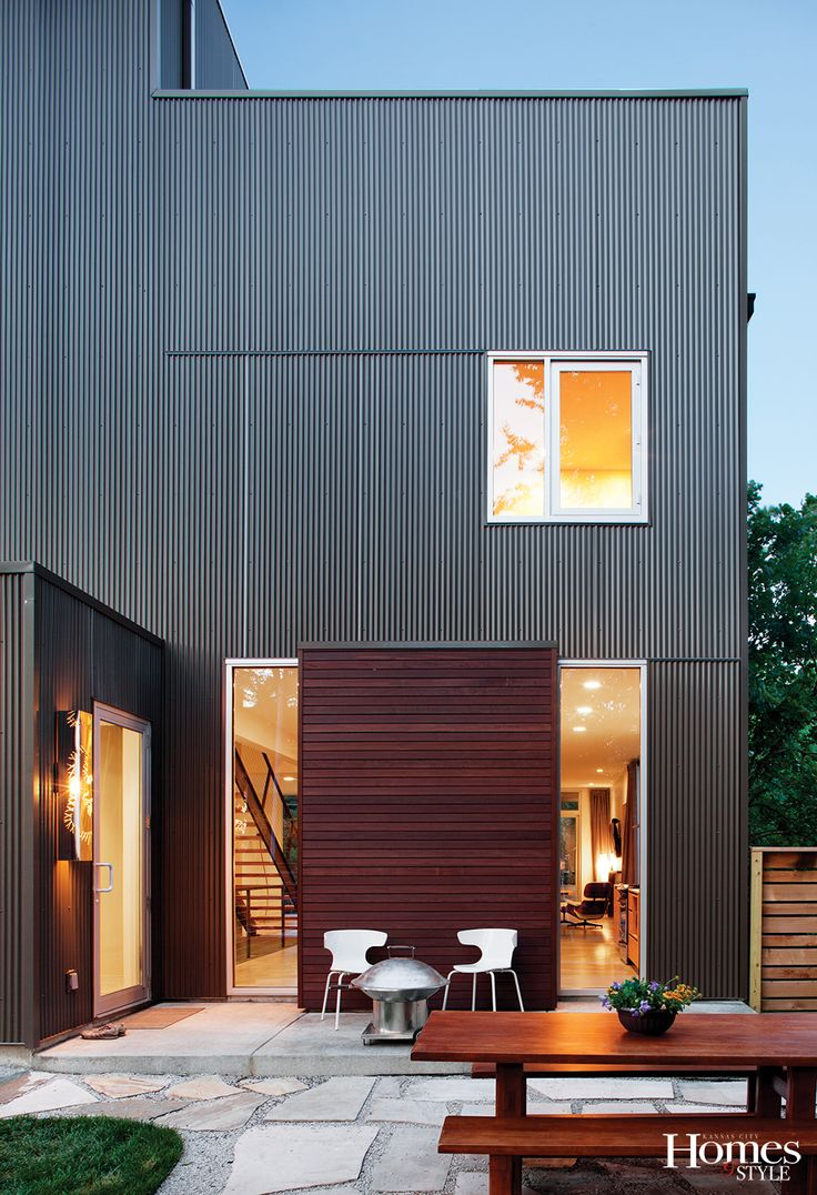 25 best ideas about metal siding on pinterest backyard for Horizontal metal siding