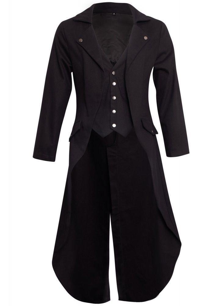 93f8b143a4b24 Retro Men s Steampunk Swalow Tailcoat Jacket Black Gothic Victorian Coat  Tail US  fashion  clothing  shoes  accessories  mensclothing  coatsjackets  (ebay ...