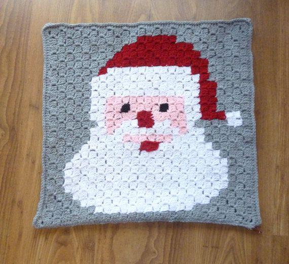 Santa pillow/ Xmas decor/ Christmas pillow/ by HeartMadeByMarina