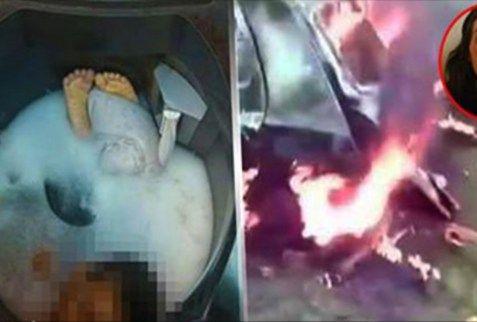 Esta mujer asesinó a su hijo metiendo en una lavadora por que le pedía comida …Esta fue la venganza del padre!!