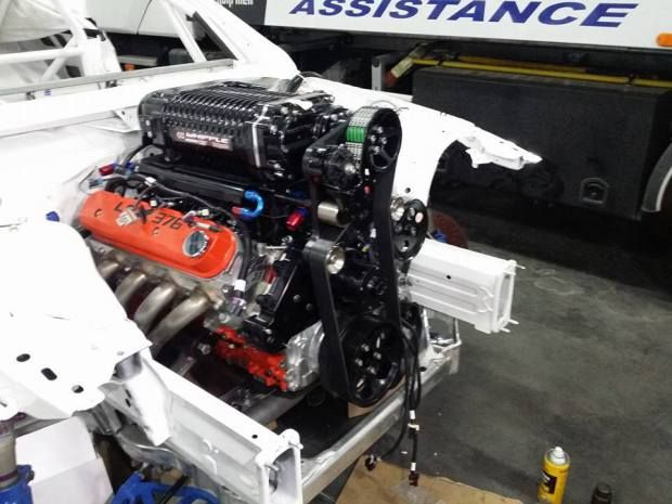 6.2 L LSX376 V8 with a 4.5 L Whipple supercharger in a BMW E93 M3
