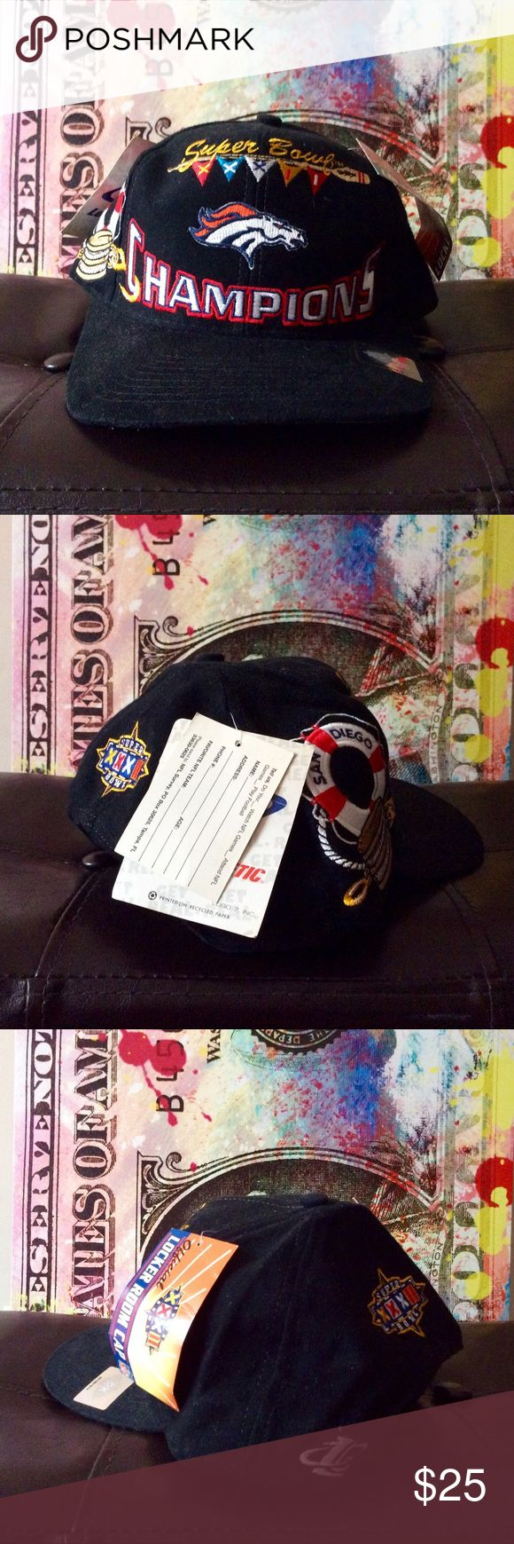 1998 Super Bowl 32 Broncos Championship Snapback Deadstock / Unworn... Logo Athletic Accessories Hats