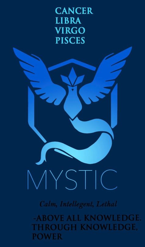 I'm Virgo and my boy friend is Libra, and we are team mystic on Pokemon go. Lol