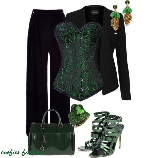Loki corset outfit, exchange some of the accessories for gold ones