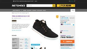 [Netshoes] Tênis Olympikus Iggy / 310 - Feminino - 7893659501188 - de R$ 153,48 por R$ 127,90 (20% de desconto)