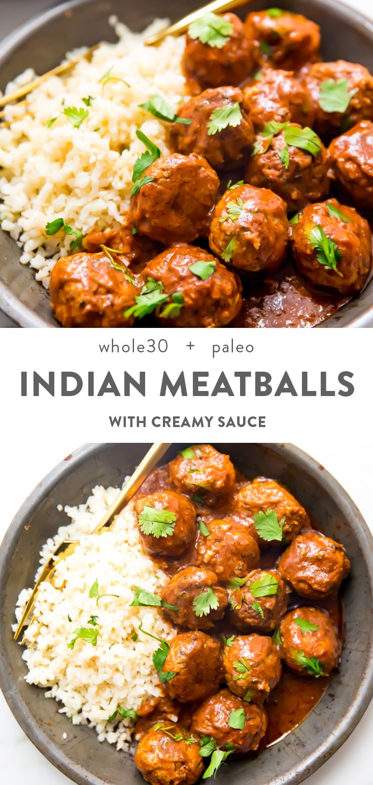 Indian Meatballs Recipe with Creamy Sauce (Whole30, Paleo)