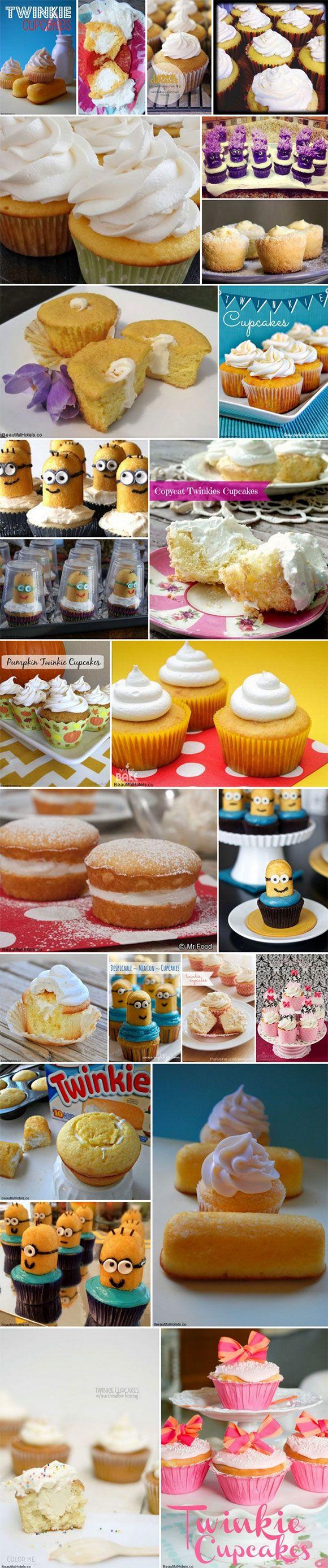 Best 25 Twinkie Cupcake Recipes found on Pinterest