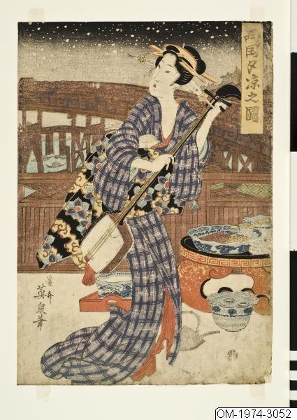 Geisha by Keisai Eisen (1790-1848), Östasiatiska museet