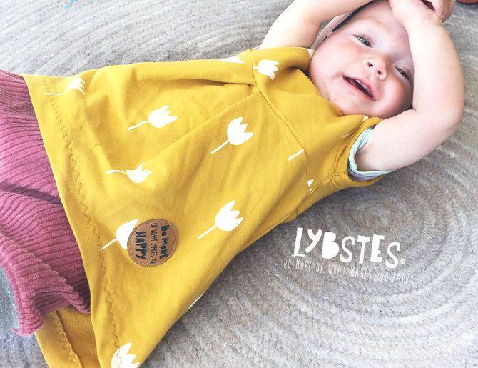 Lybstes Freebook Schnittmuster: Babytunika und Basickleid Juna in den Größen 5…