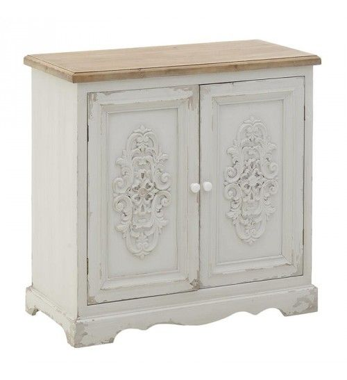 WOODEN CABINET IN WHITE_NATURAL 80X38X77