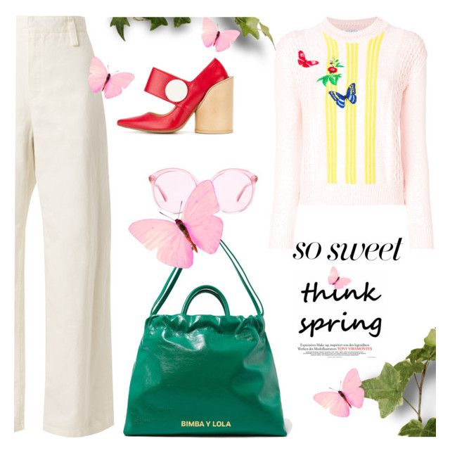 """""""...it is the sun shining on the rain.."""" by gabrielleleroy ❤ liked on Polyvore featuring The Row, Piel Leather, Jacquemus, VIVETTA, Gucci and pastelsweaters"""