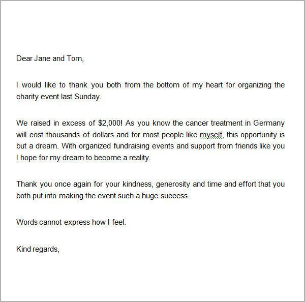 Charitable Donation Letter Template More 8 Thank You Letters For