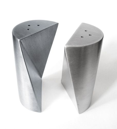 S/P Shakers by James Ian Killinger Stainless Steel & Embedded Magnets