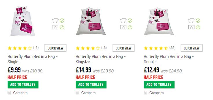 Half Price Duvet Bed in a Bag sets NOW from £9.99 at Argos