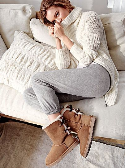 It doesn't get cozier than this! | UGG® Australia Bailey Bow Boot at Victoria's Secret