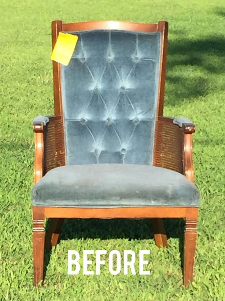 Ugly, Dingy Thrift Store Find Tuned Into Shabby Feed Sack Arm Chair!