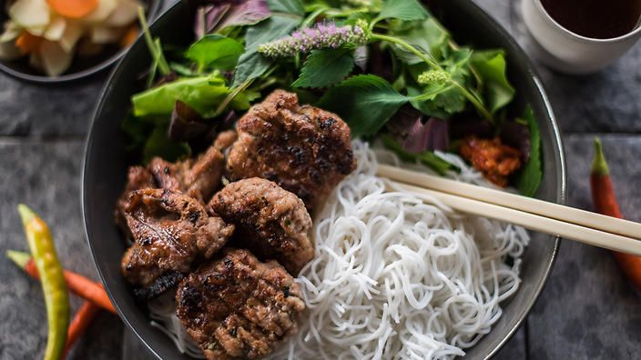 This big-flavoured bun cha comes from Aussie chef Dan Hong and his mum Angie. #FoodSafari
