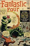 The Fantastic Four #1 (Nov. 1961). Cover art by Jack Kirby (penciller) and unconfirmed inker.