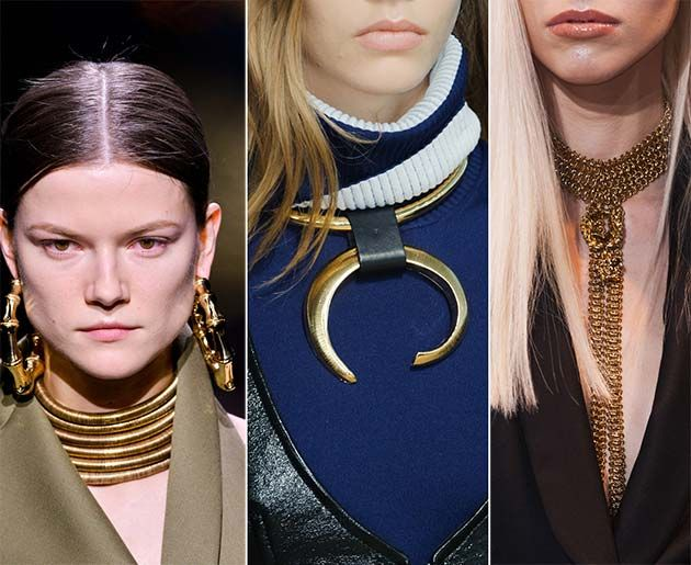 Fall/ Winter 2014-2015 Jewelry Trends: Golden Jewelry  #jewelry #accessories