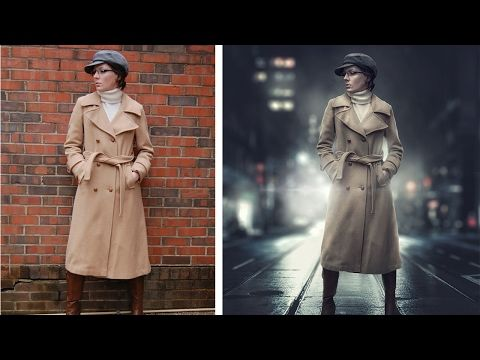 Photoshop Tutorial   How To Retouch, Removing Background, Compositing   Couple Photo Manipulation - YouTube
