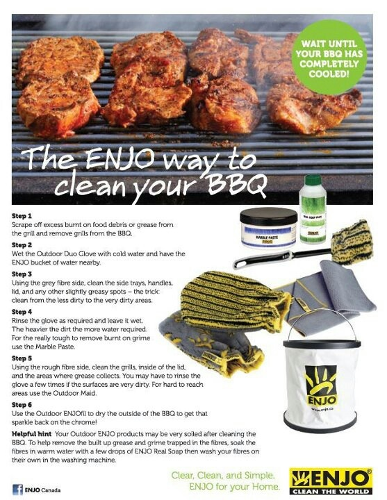 How to Clean your BBQ with ENJO!
