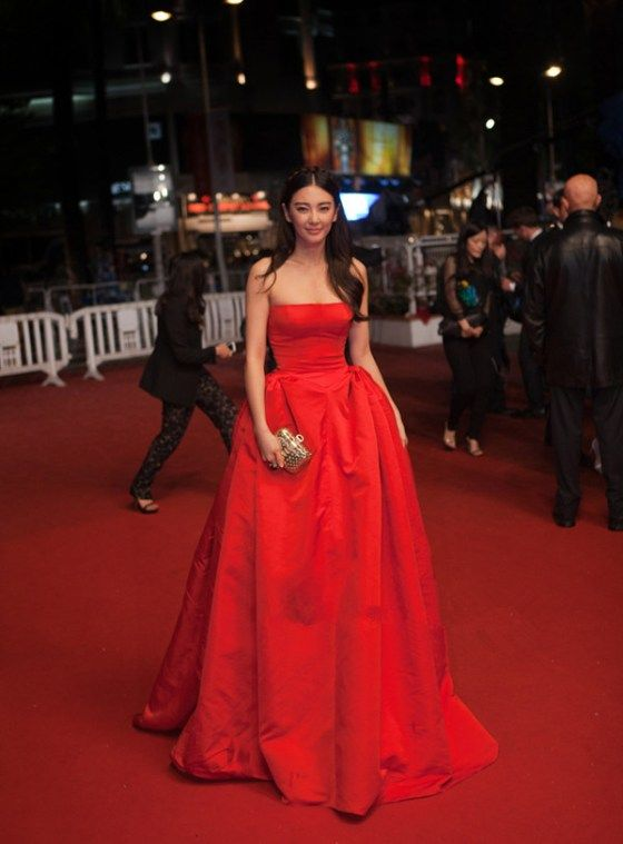Zhang Yuqi in Alexander McQueen at Cannes Film Festival 2013